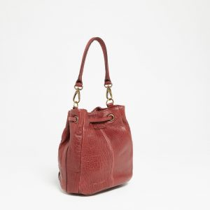 Sac à main Abaco Studio Juliette python bordeaux