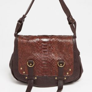 Sac à main Abaco Studio Mini Jamily python marron