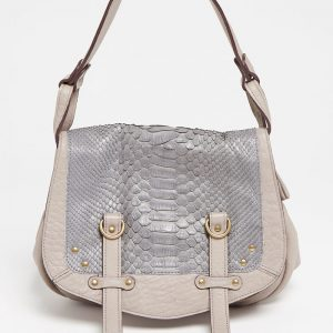 Sac à main Abaco Studio Mini Jamily python gris